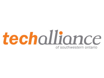 techalliance logo featuring orange and grey lettering